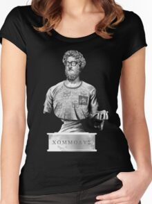 Hipster Roman emperor Commodus Women's Fitted Scoop T-Shirt