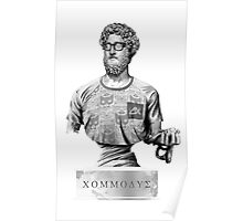 Hipster Roman emperor Commodus Poster