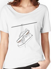 White Vans Hanging From Power Lines Women's Relaxed Fit T-Shirt