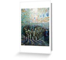 Vincent van Gogh Prisoners Exercising Greeting Card