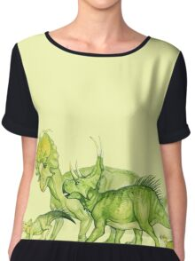 ceratopsians & co. Chiffon Top
