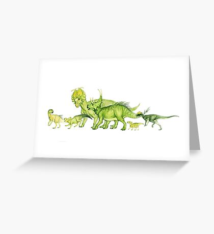 ceratopsians & co. Greeting Card