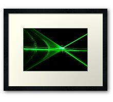 Laser reflection Framed Print