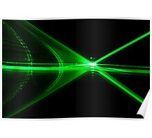 Laser reflection Poster
