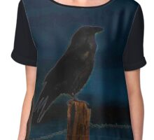Raven Watch Chiffon Top