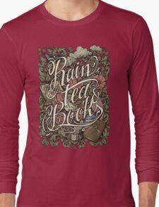 Rain, Tea & Books - Color version Long Sleeve T-Shirt