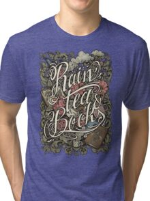 Rain, Tea & Books - Color version Tri-blend T-Shirt