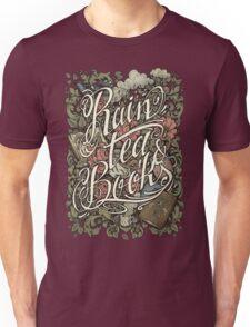 Rain, Tea & Books - Color version Unisex T-Shirt