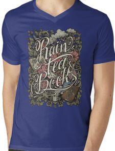 Rain, Tea & Books - Color version Mens V-Neck T-Shirt
