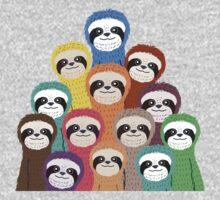 Sloth Pattern One Piece - Short Sleeve
