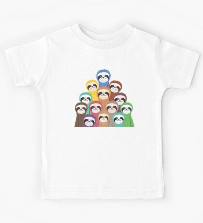 Sloth Pattern Kids Tee