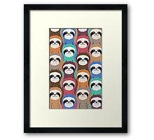 Sloth Pattern Framed Print