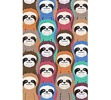 Sloth Pattern Photographic Print