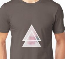 triángulos fondo flores Unisex T-Shirt