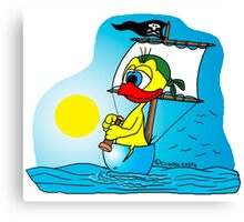 """Rick the chick """"PIRATE"""" Canvas Print"""