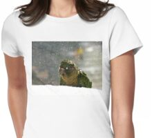 Is It Snowing? - Maroon-Bellied Conure NZ Womens Fitted T-Shirt