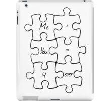 We Fit Together - B&W iPad Case/Skin