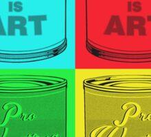 Pro Wrestling is (pop) Art Sticker