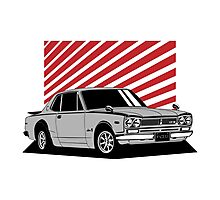 Nissan Skyline 2000 GT-R Coupe (silver) Photographic Print