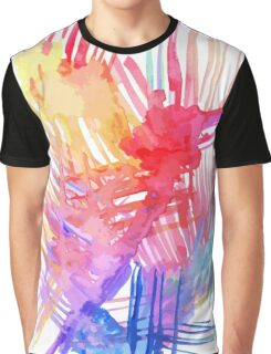 Watercolor abstract palm leaves Graphic T-Shirt