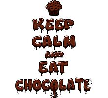 Eat Chocolate Photographic Print