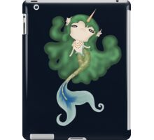 glowing uni-mermaid of the depths iPad Case/Skin