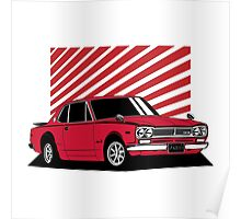 Nissan Skyline 2000 GT-R Coupe (red) Poster
