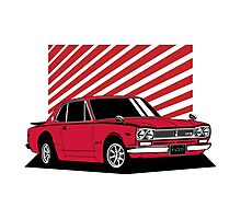 Nissan Skyline 2000 GT-R Coupe (red) Photographic Print