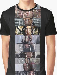 Bucky's Trigger Phrases - Sebastian Stan Graphic T-Shirt