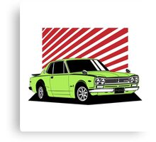 Nissan Skyline 2000 GT-R Coupe (green) Canvas Print