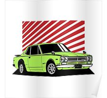 Nissan Skyline 2000 GT-R Coupe (green) Poster