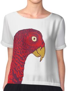 The Red Bird Chiffon Top