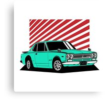 Nissan Skyline 2000 GT-R Coupe (blue) Canvas Print