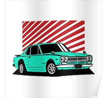Nissan Skyline 2000 GT-R Coupe (blue) Poster