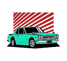 Nissan Skyline 2000 GT-R Coupe (blue) Photographic Print