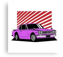 Nissan Skyline 2000 GT-R Coupe (purple) Canvas Print