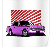 Nissan Skyline 2000 GT-R Coupe (purple) Poster
