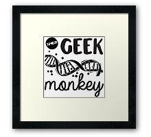 Geek Monkey Cosima  Framed Print