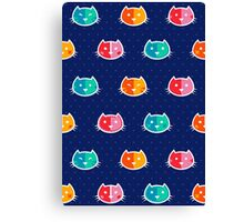 Chromatic Cats Pattern Canvas Print