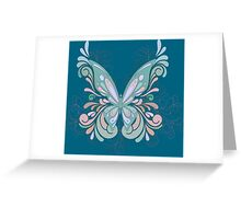 Pastel Color Butterfly with colorful swirls Greeting Card