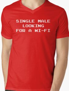 Single Male Looking for a Wi-Fi Mens V-Neck T-Shirt
