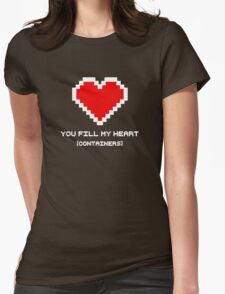You Fill My Heart (Containers) Womens Fitted T-Shirt