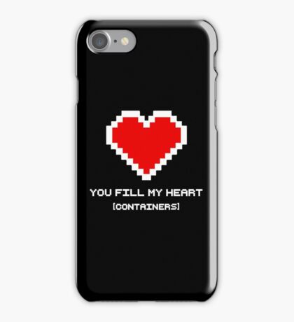 You Fill My Heart (Containers) iPhone Case/Skin