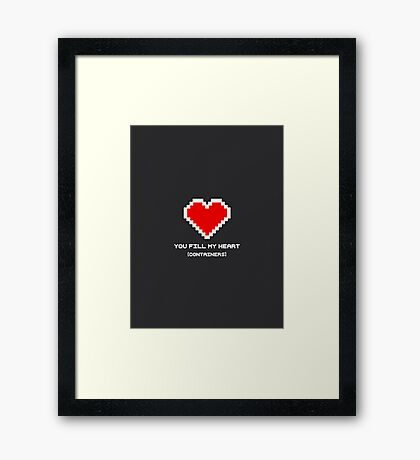 You Fill My Heart (Containers) Framed Print