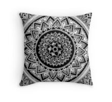 Flower Mandala Throw Pillow