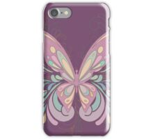 Colorful Ornately Designed Butterfly Graphic with flourishes iPhone Case/Skin