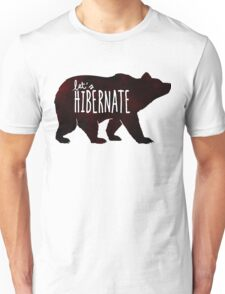 Let's Hibernate: Watercolor Bear with Funny Quote T-Shirt