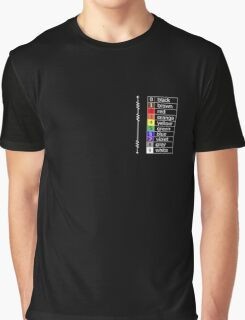 resistor colour codes on black and dark colours Graphic T-Shirt