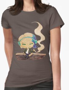 riley blue on a wall Womens Fitted T-Shirt