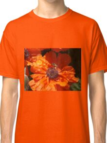 A Bee And A Poppy   Classic T-Shirt